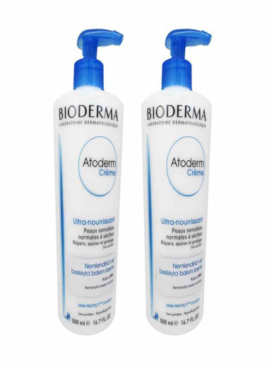 Bioderma Bioderma Atoderm Cream 2x500ml İkiz Set Renksiz